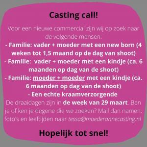 CASTING CALL! Ben je of ken je degene die we zoeken? Mail dan naar tessa@moederannecasting.nl 🎥